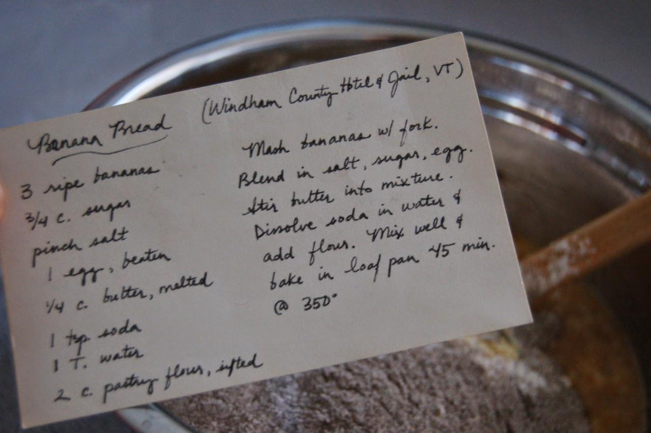 banana bread recipe card - photo #45