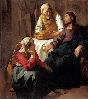 フェルメール、マリアとマルタの家のキリスト スコティッシュ・ナショナル・ギャラリー