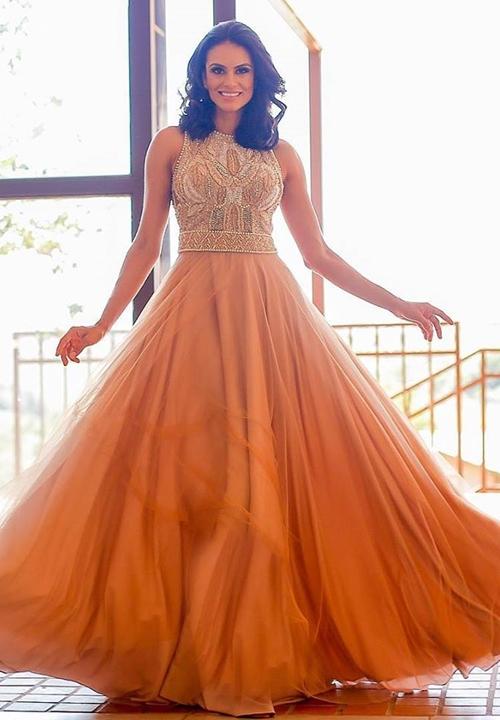 bordado vestido de festa