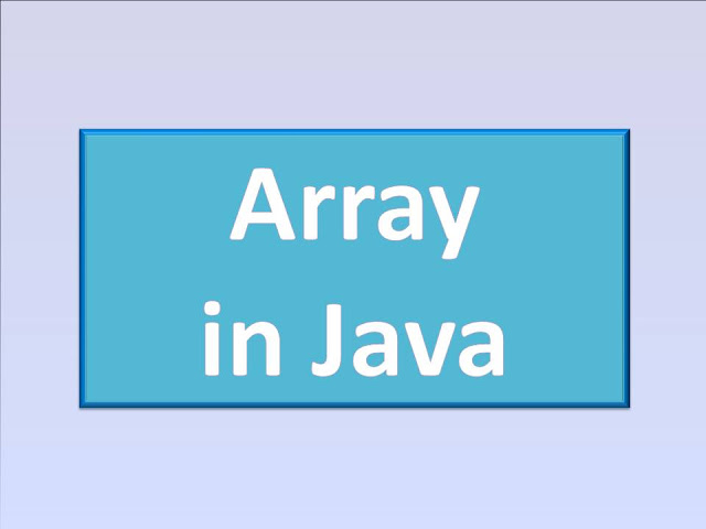 Array in Java