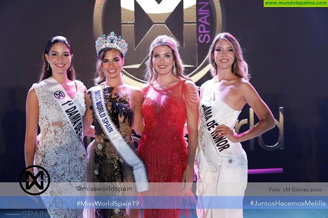 La palmera Marta González Segunda Dama de Honor en el certamen de Miss Mundo España