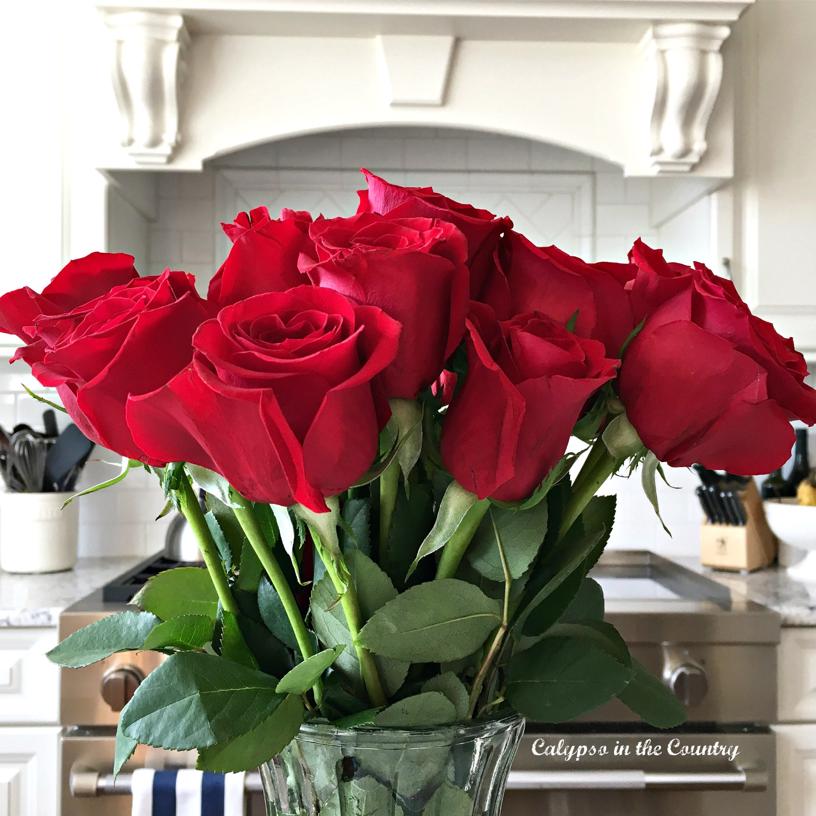 Red Roses for Valentine's Day - Decorating with Flowers