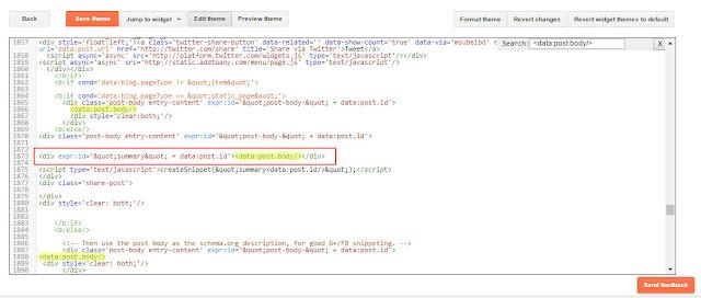 Gambar Cara Menempatkan iklan Google Adsense di Bawah Judul Postingan Blog