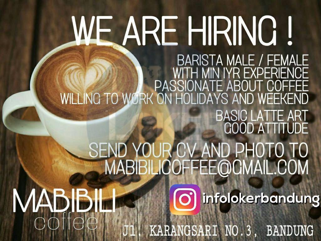 Lowongan Kerja Barista Mabibili Coffee Bandung Oktober 2017