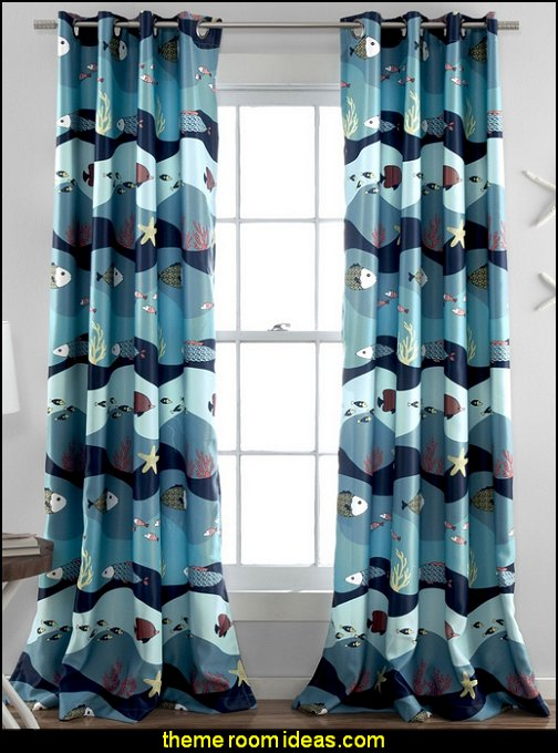 Lush Decor Sea Life Blackout Window Curtain Panel
