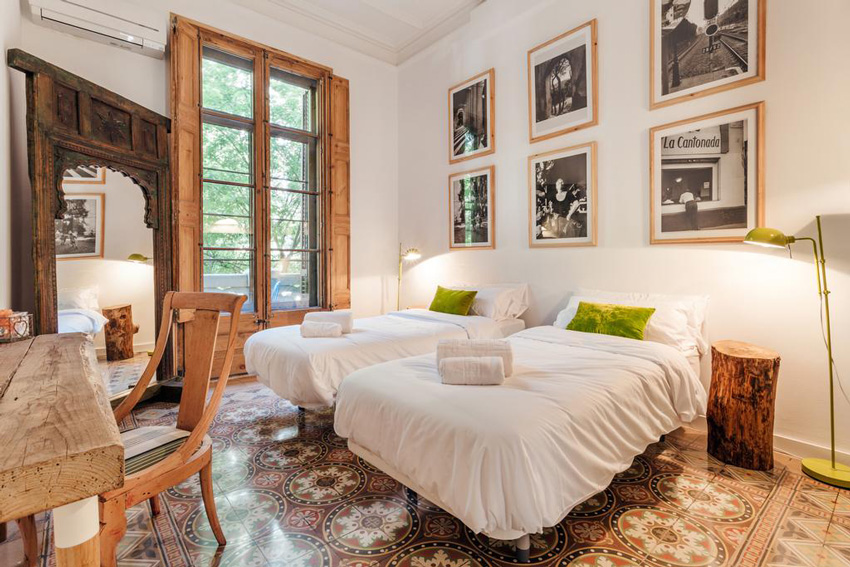 dormitorio doble hotel barcelona