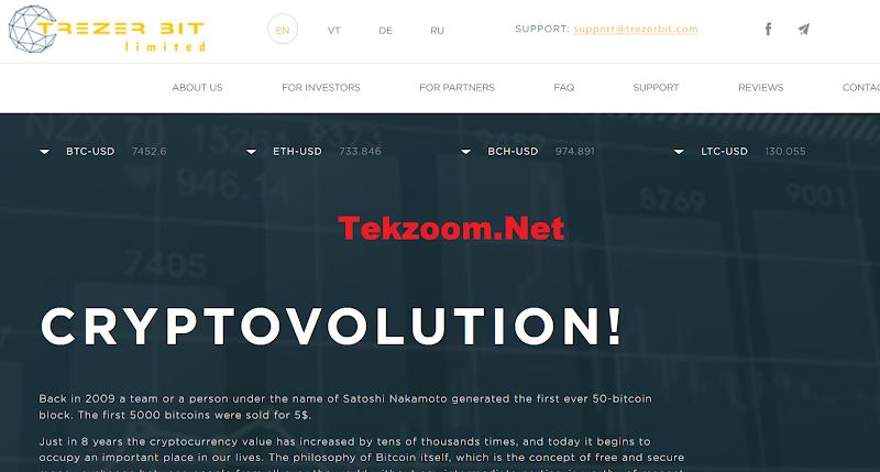 [SCAM] Review TrezerBit - Lãi 8% hằng ngày - Đầu tư tối thiểu 10$ - Thanh toán Manual