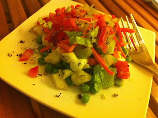 Baked Potato and Pea Salad