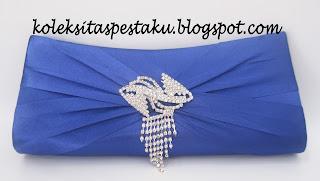 Clutch Bag Tas Pesta Biru ELektrik Mewah dan Cantik