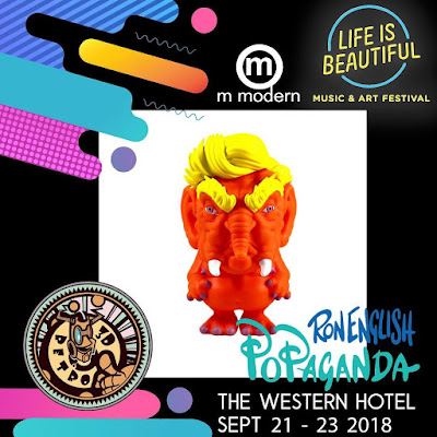 Life Is Beautiful Exclusive Trunk Vinyl Figure by Ron English x 3DRetro