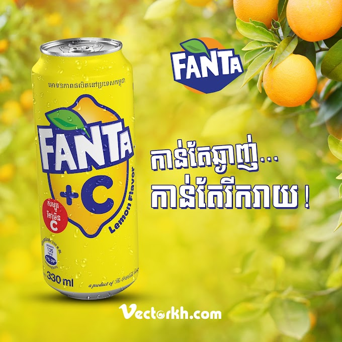 Fanta Cambodia Poster free psd template by vectorkh.com