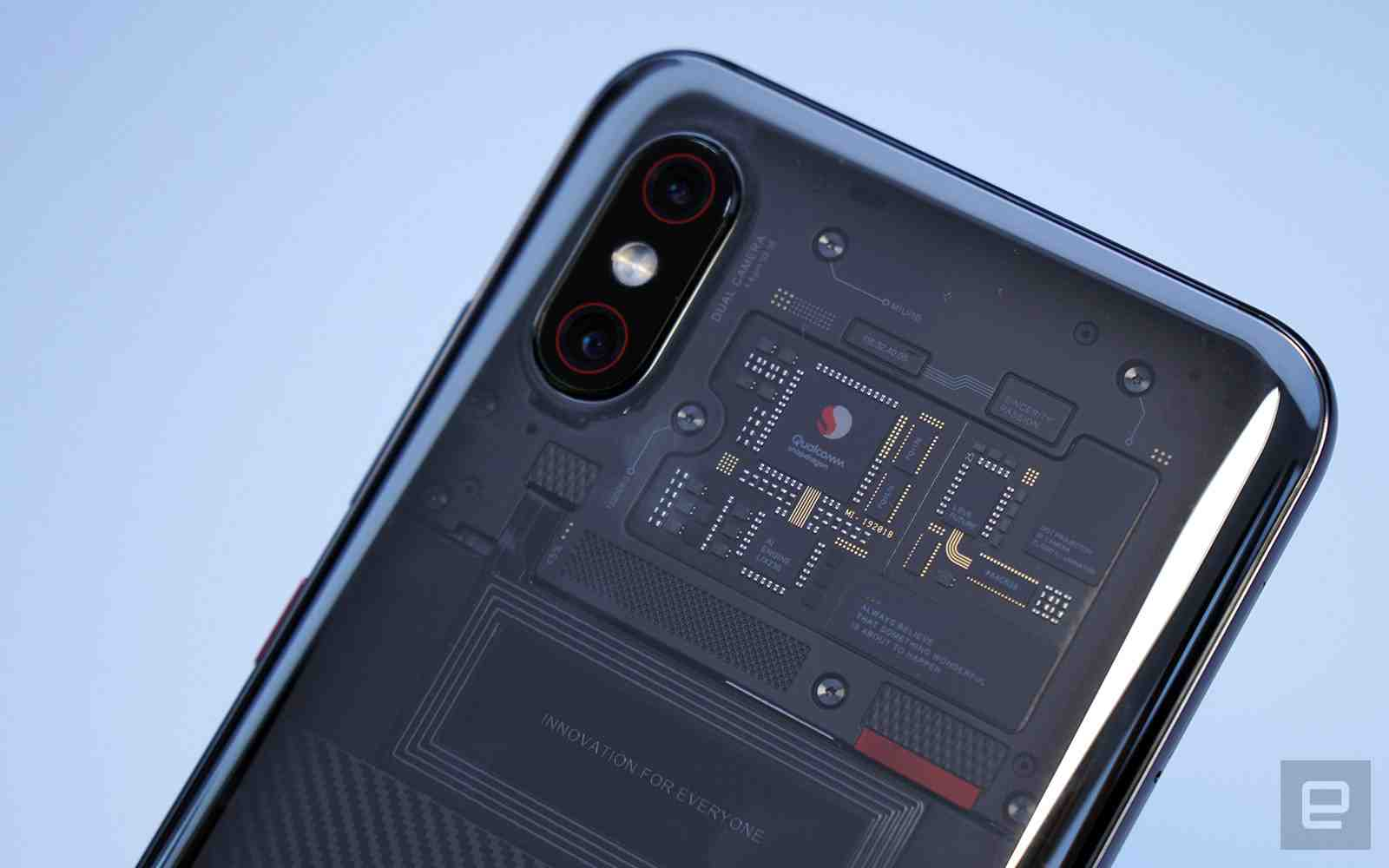 Xiaomi's Mi 8 Explorer Transparent Body Back