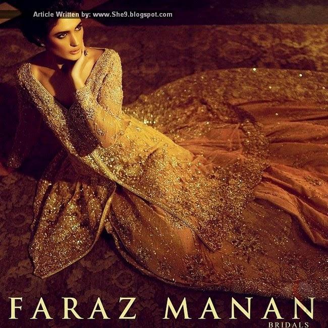 Faraz Manan Bridals Pakistani Bridal Designer Dress Collection She9 Change The Life Style