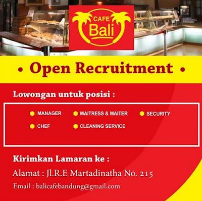 Lowongan kerja cafe Bali Bandung 2020