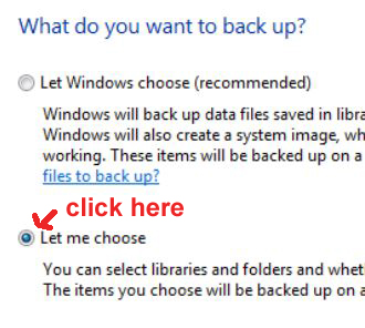 back up Windows 7 files