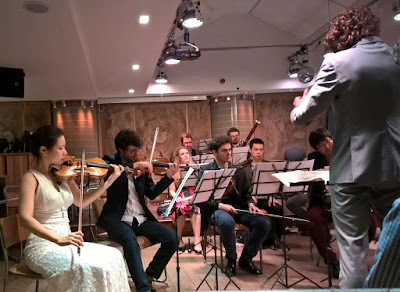 William Kunhardt and the Arensky Chamber Orchestra in Wagner's Siegfried Idyll at the Oak Room in the Hospital Club