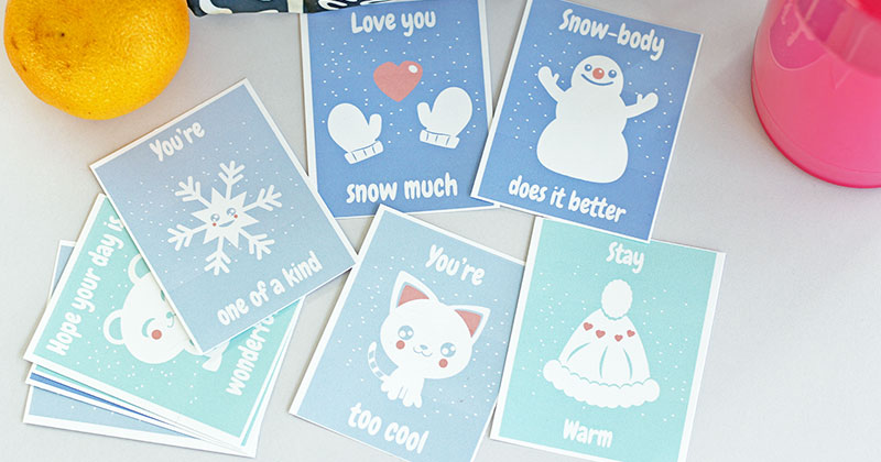Heartwarming Free Printable Winter Lunch Box Notes for Kids