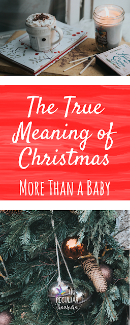 Christmas is about redemption and grace- not just a baby in a manger. #christmas #faith #christianity