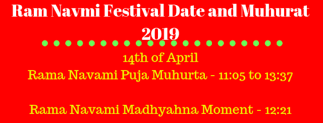 Ram Navami 2019, Ram Navmi Festival Date and Muhurat 2019