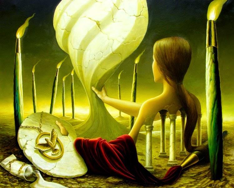 Inspiração lV - Ileana Cerato e seu surrealismo nostálgico ~ Pintor argentino