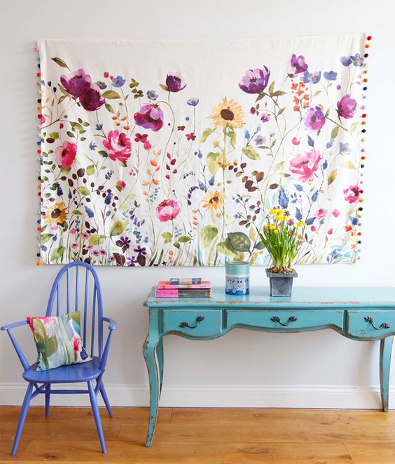 How To Hang Fabric On Walls honey i'm home: 20 landlord friendly decor ideas for renters
