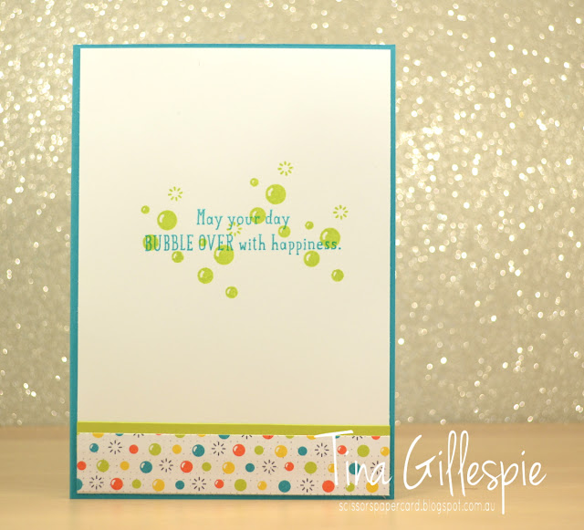 scissorspapercard, Stampin' Up!, Art With Heart, Bubble Over Bundle, Milestone Moments