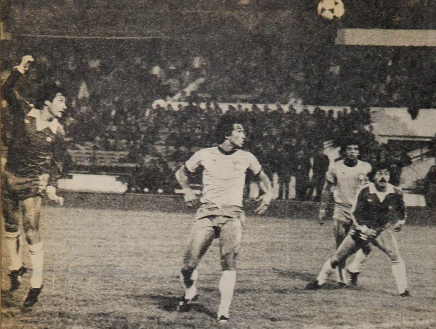 Chile y Brasil en partido amistoso, 26 de agosto de 1981