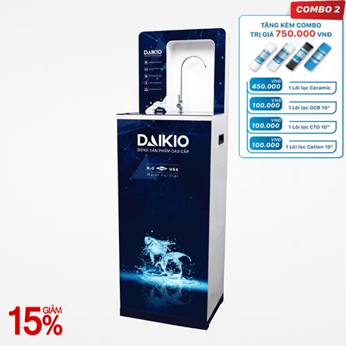 Máy lọc nước cao cấp Daikio DKW-00008A- Đen- 8 cấp