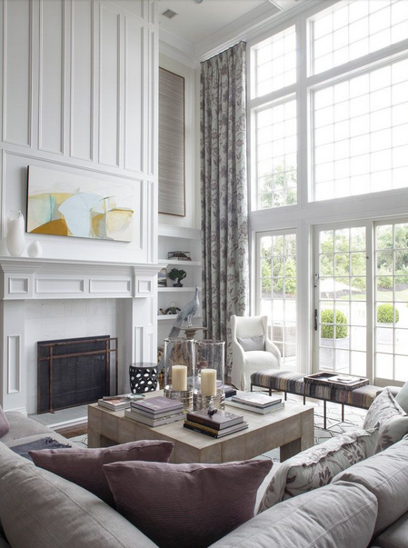 Rosa beltran design considering space scale and - High ceiling wall decor ...
