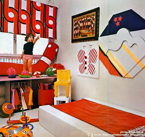 Sarcelles - Appartement Jean-Pierre et Maryvonne Garrault  Décoration: Garrault-Delord: Henri Delord, Jean-Pierre Garrault  Création: 1972   La maison d'Henri Delord à Chantilly
