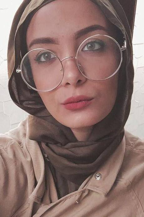 Cewek IGO Jilbab Kacamata bahan asahi