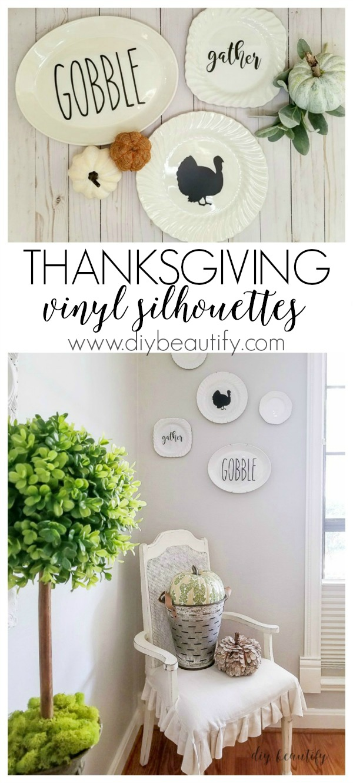 Thanksgiving vinyl silhouettes