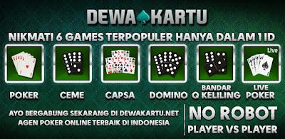 6 permainan dalam 1 akun dewa kartu