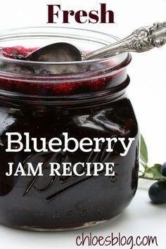 Blueberry Jam Made From Fresh Berries