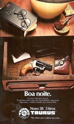 Propaganda do Revolver Taurus nos anos 70