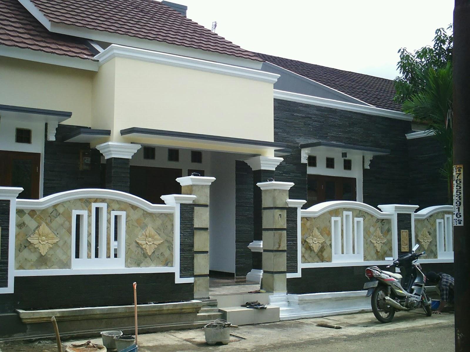 Contoh Pagar Rumah Dari Batu Alam Desain Rumah