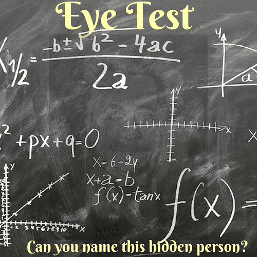 It is an eye test brain teaser in which one has to find the hidden face of the famous personality