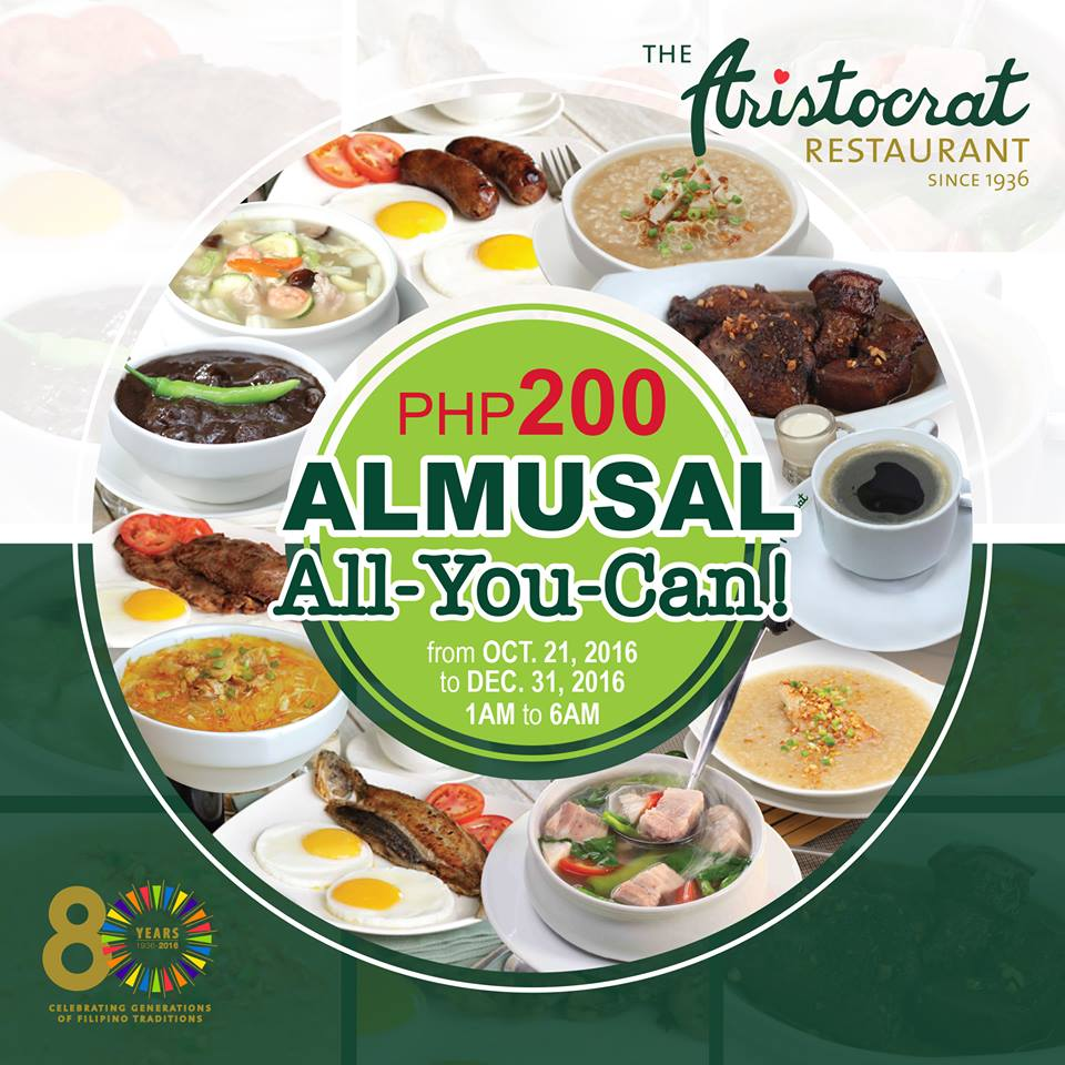 Breakfast Buffet For Just P200 Its On Until 31st Of December Image Grabbed From The Aristocrats Facebook Page