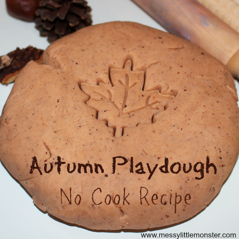 Easy no cook playdough recipe - autumn scented playdough