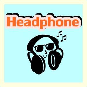 Ilustrasi tulisan headphone