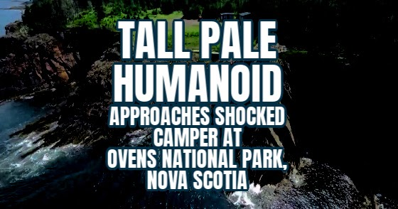 Tall Pale Humanoid Approaches Shocked Camper at Ovens National Park, Nova Scotia