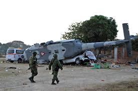 تحطم طائرة هليكوبتر في المكسيك يخلف 13 قتيلا فى اعقاب الزلزال