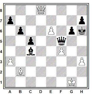 Posición de la partida de ajedrez Tarnai - Penakov (Correspondencia, 1983-84)