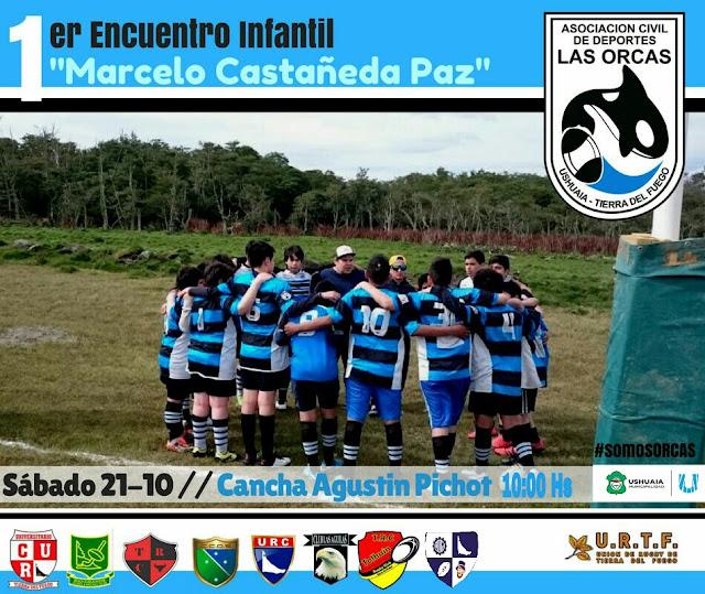 "Orcas Rugby Club organiza el 1er Encuentro Infantil ""Marcelo Castañeda Paz"""