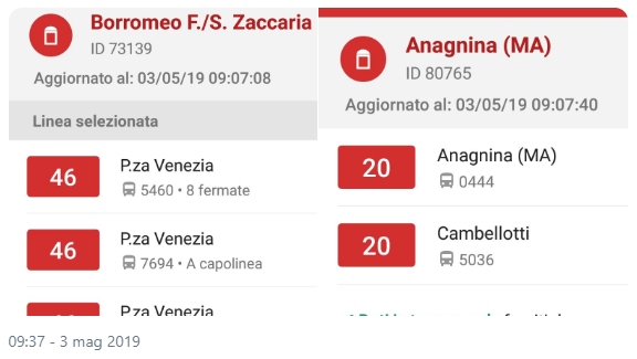 Situazione Trasporto Pubblico Roma venerdì 3 maggio