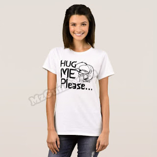 Hug Me Please T-Shirt Design - MzGunDesign