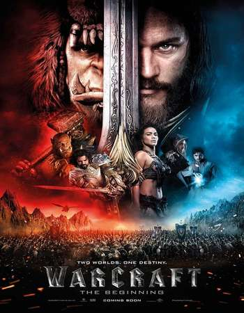 Poster Of Warcraft 2016 English 900MB CamRip x264 Free Download Watch Online Worldfree4u