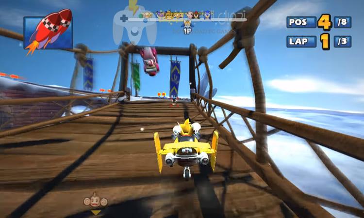 تحميل لعبة Sonic And Sega All Stars Racing للكمبيوتر برابط واحد