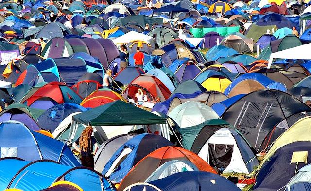 Tents galore at Glastonbury
