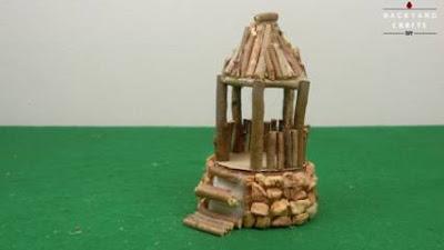 Cara Membuat Kerajinan Rumah dari Kayu Berupa Gazebo Mini